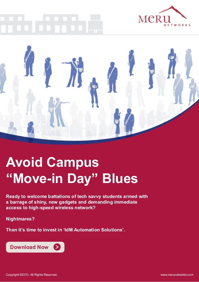 """Avoid Campus """"Move-in Day"""" Blues Ready to welcome battalions of tech savvy students armed with a barrage of shiny, new gad..."""