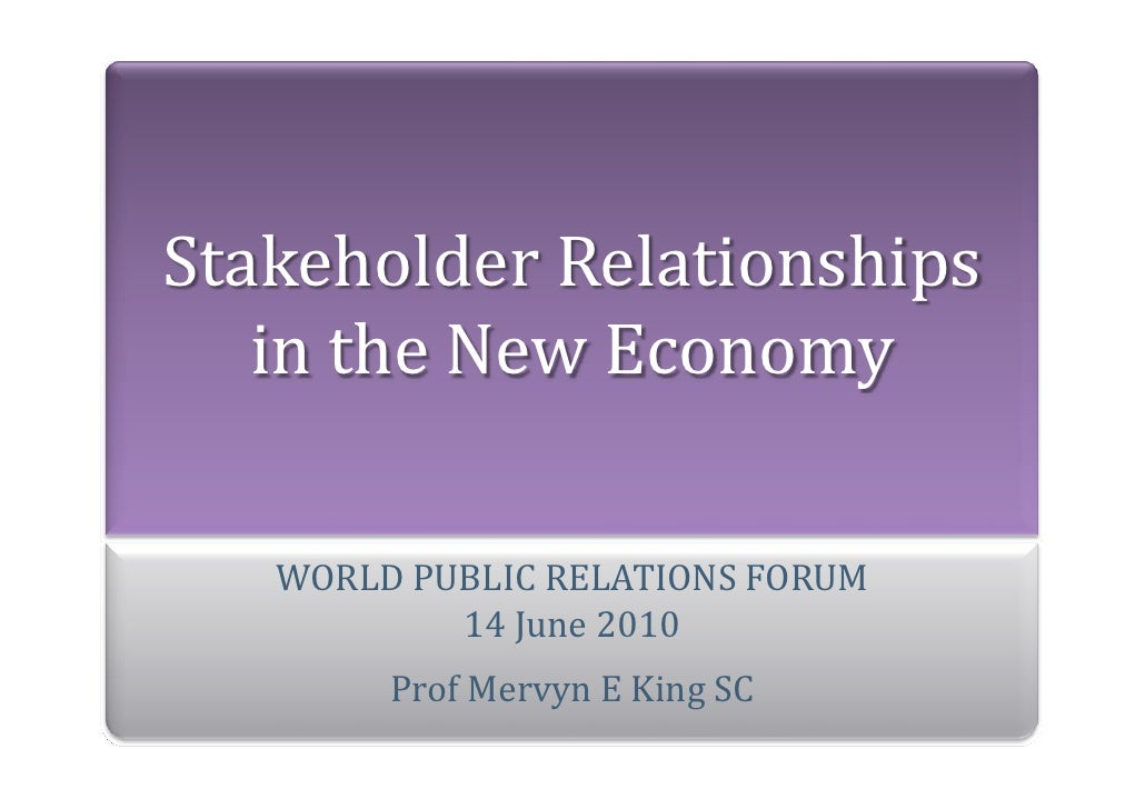 Mervyn King´s presentation on WPRF