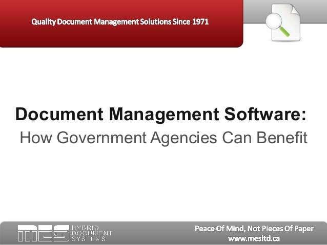Document Management Software:How Government Agencies Can Benefit