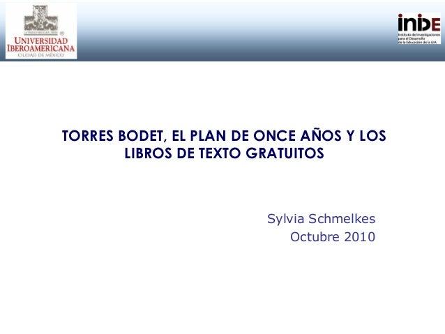 Torres Bodet, el plan de once años y los libros de texto gratuitos