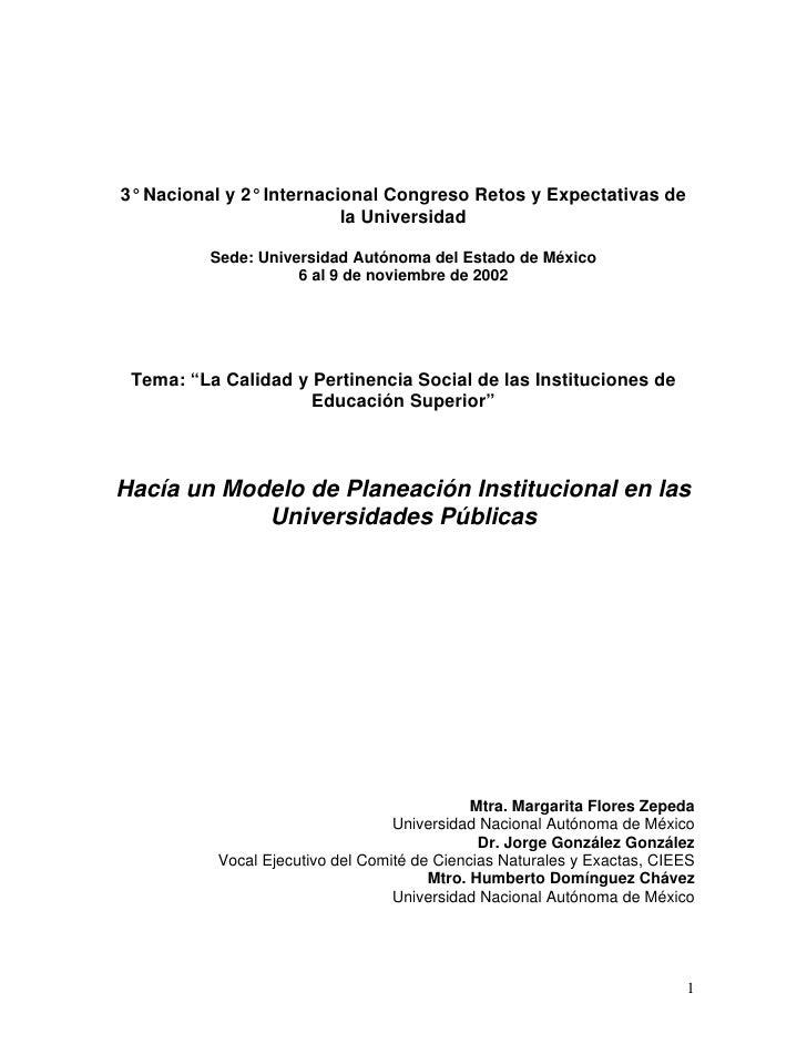 3° Nacional y 2° Internacional Congreso Retos y Expectativas de                          la Universidad          Sede: Uni...