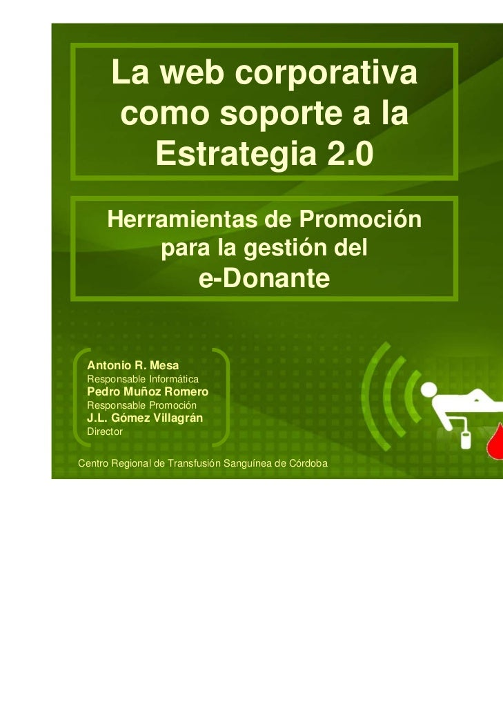 Web Corporativa como soporte Estrategia 2.0