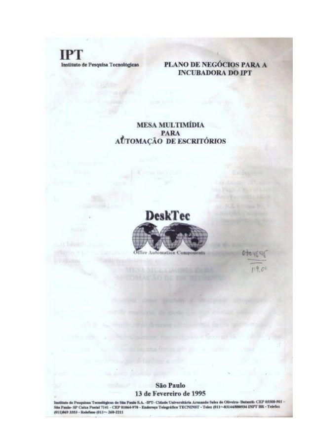 Detalhamento e Desenhos da Mesa Coonforme a Patente
