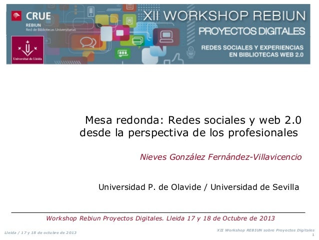 Mesa redonda: Redes sociales y web 2.0 desde la perspectiva de los profesionales