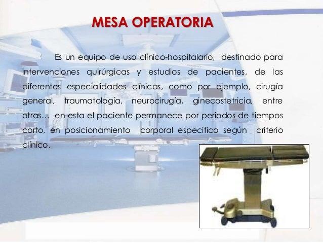 Mesas y camas clinicas for Cama quirurgica