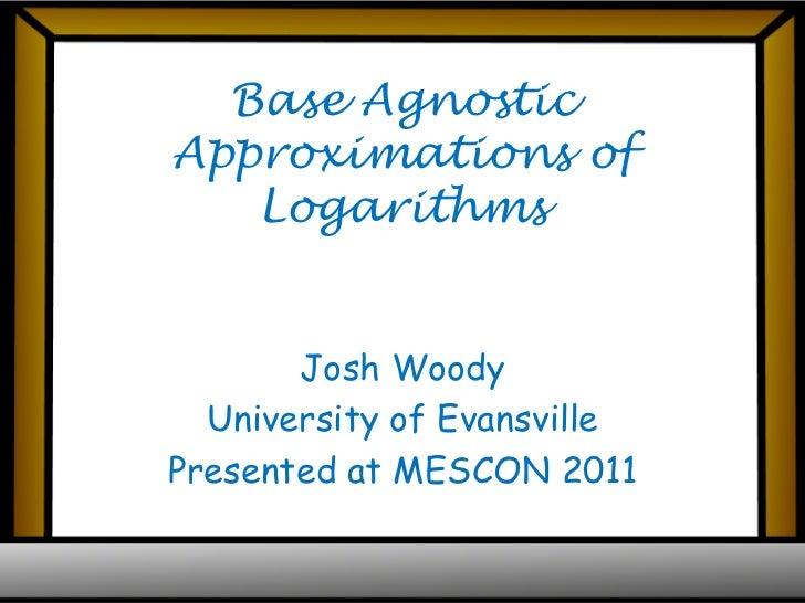 Mescon logarithms