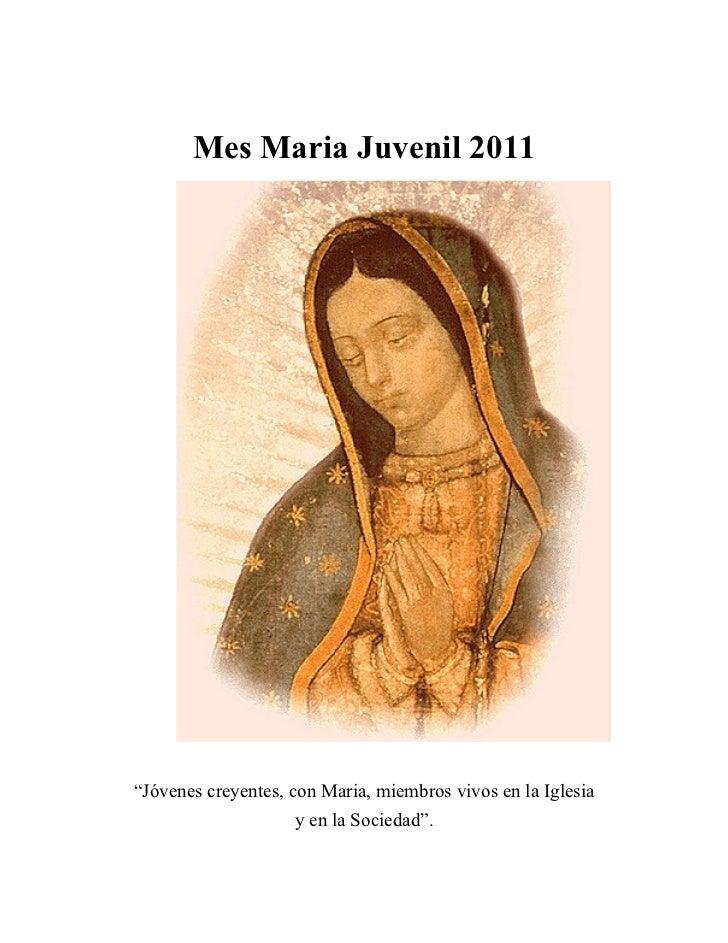 Mes de  María para Jóvenes 2011