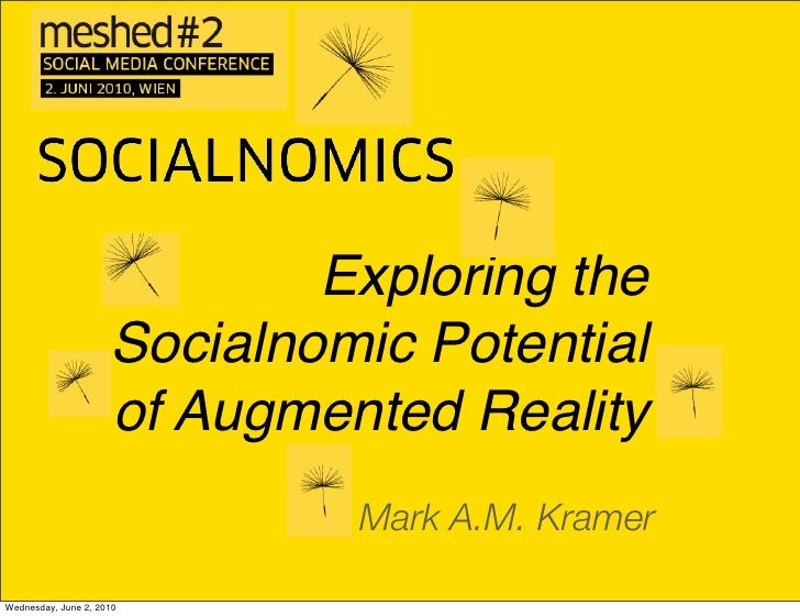 """Exploring the Socialnomic Potential of Augmented Reality"" #meshed2"