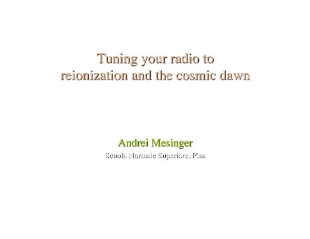 Tuning your radio to the cosmic dawn