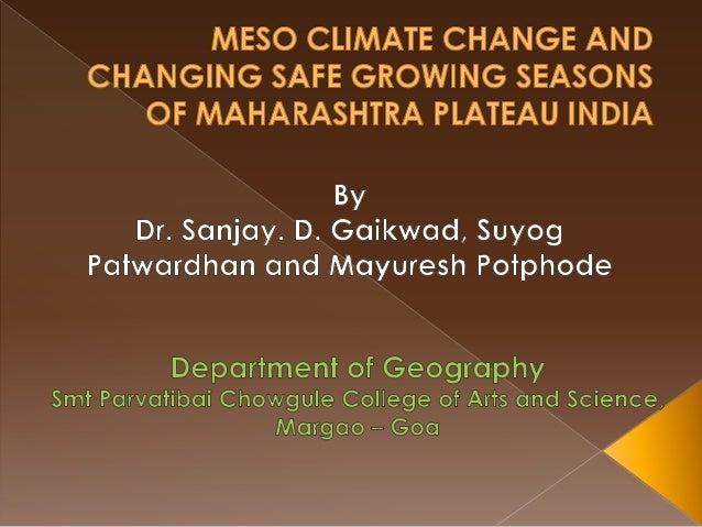 Maharashtra India Climate Maharashtra Plateau India