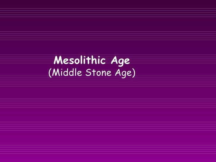 Mesolithic Age  (Middle Stone Age)