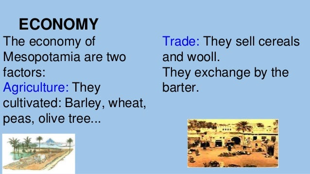 Trade and money system in mesopotamia