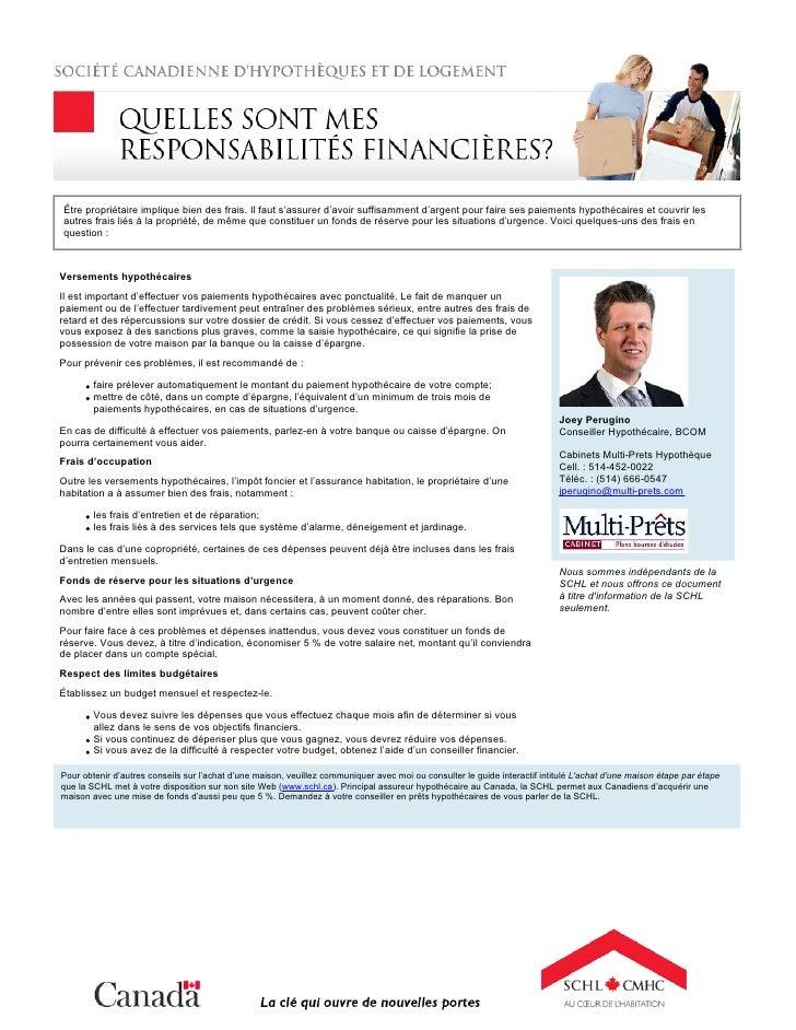 Mes Responsabilites Financieres