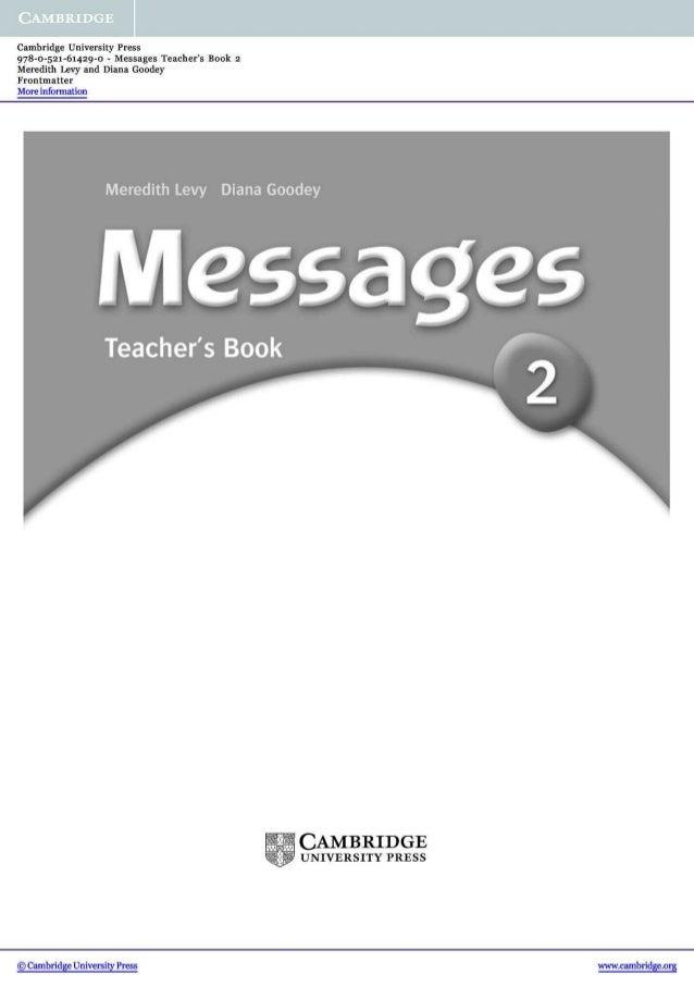 Messages 2 teacher's book