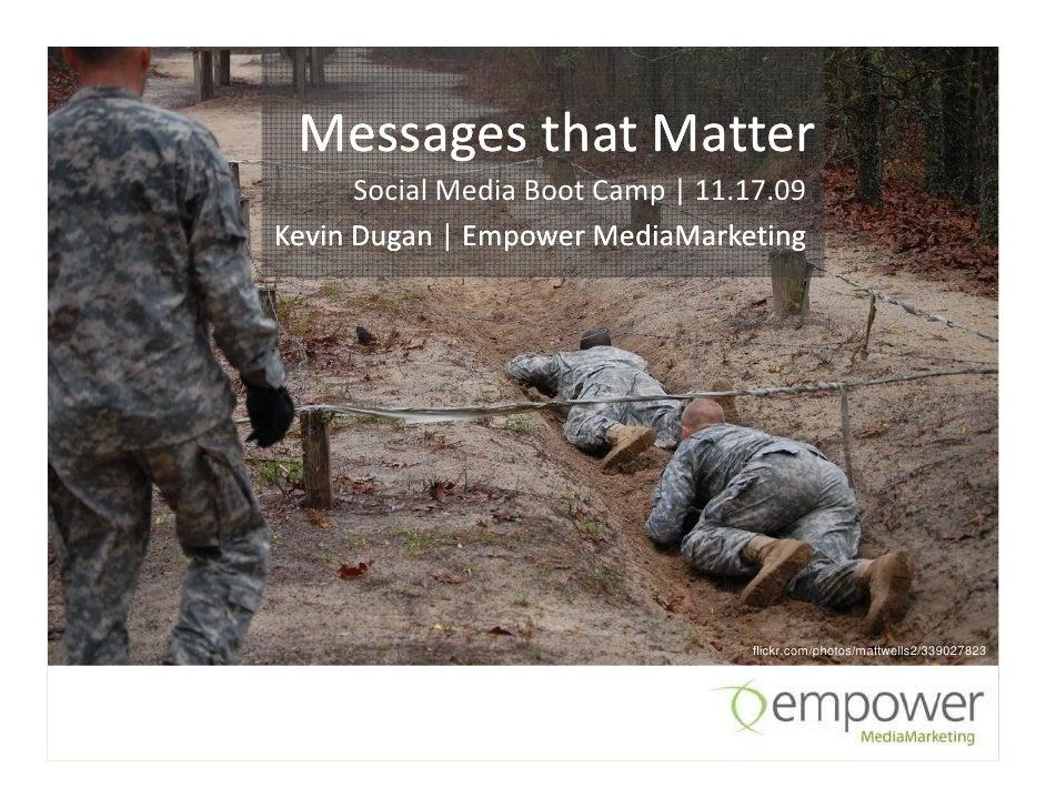 Messages that Matter