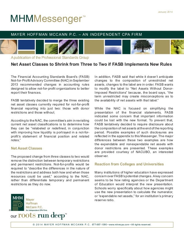 Net Asset Classes to Shrink from Three to Two if FASB Implements New Rules