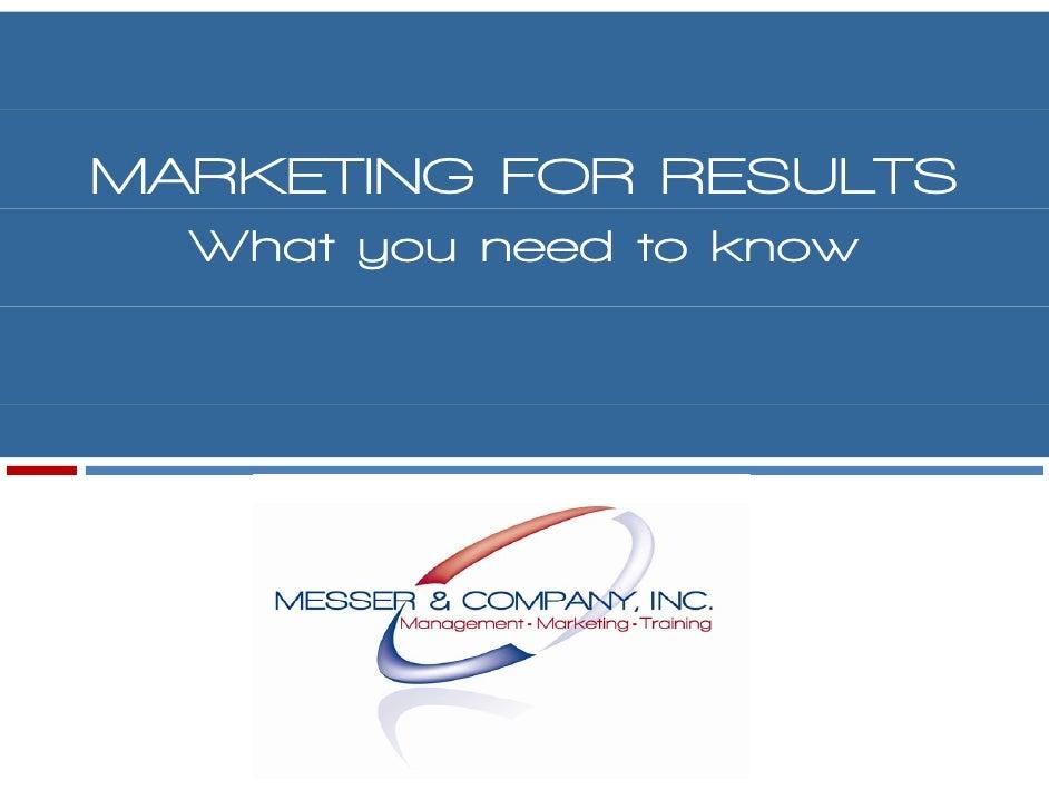 Marketing Presentation 8/09