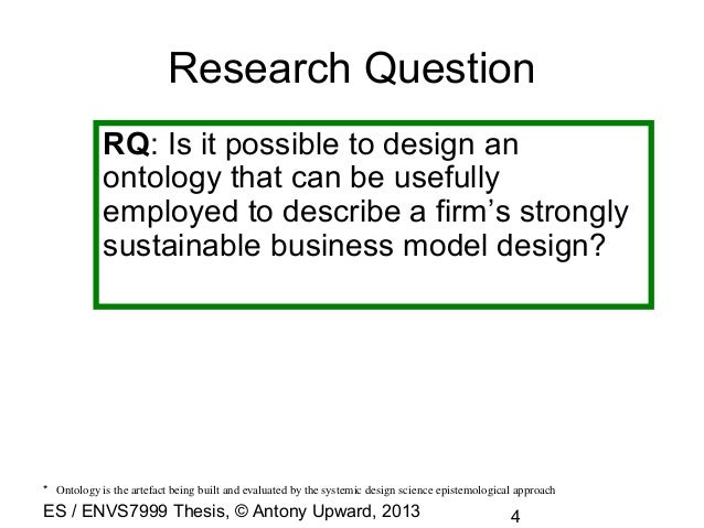 Business ontology thesis