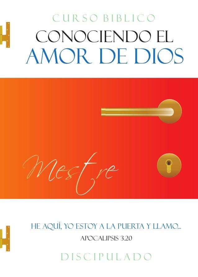 """Discipulado Conociendo el Amor de Dios"""" Libro Maestro – Español"""