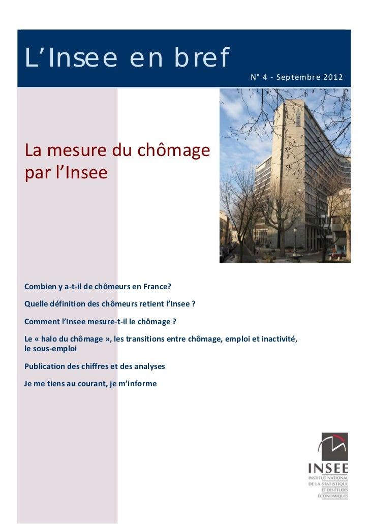 L'I NSEE EN BREF    L'Insee en bref                                                                       N°4‐S...