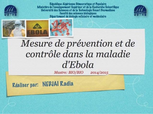 Mesures de prévention et de contrôle dans la maladie d'ebola 1