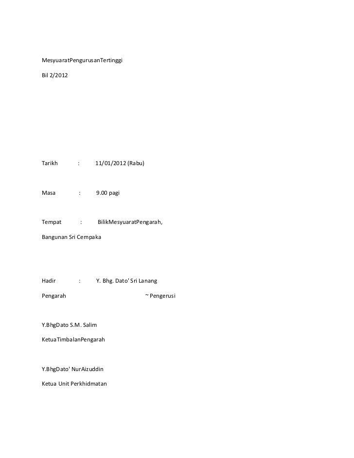 MesyuaratPengurusanTertinggiBil 2/2012Tarikh       :       11/01/2012 (Rabu)Masa         :       9.00 pagiTempat          ...