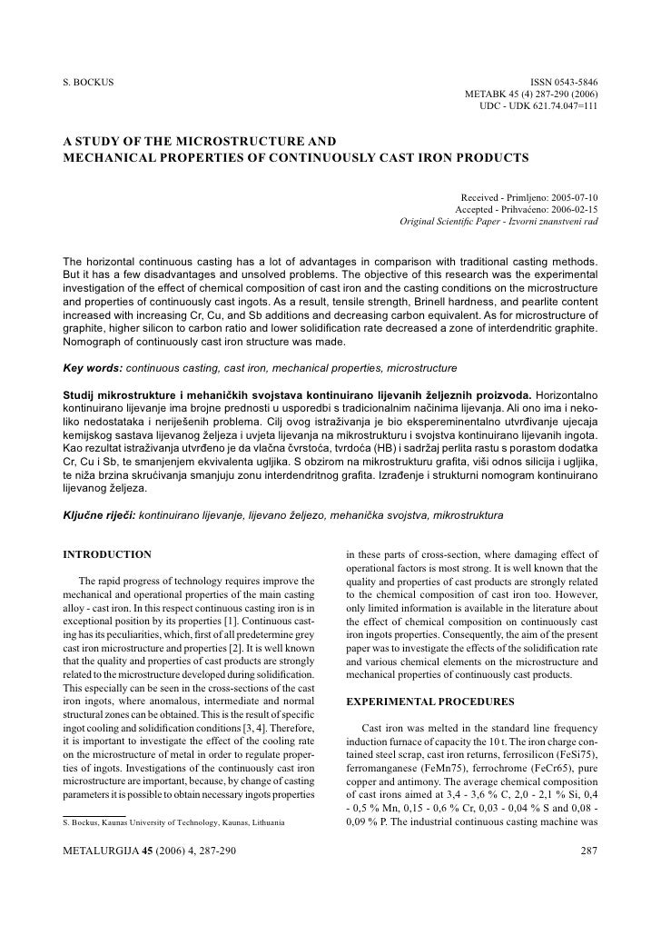 S. BockUS A STUdy of ThE MIcRoSTRUcTURE And MEchAnIcAL pRopERTIES of ...    BockUS:                                       ...