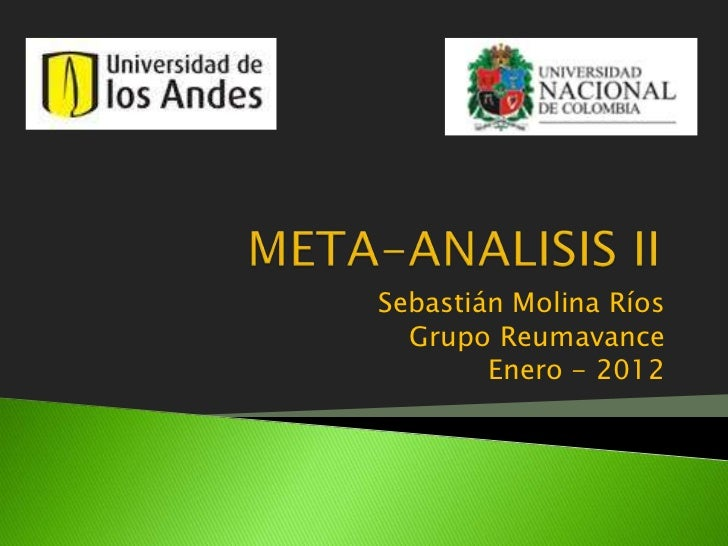Sebastián Molina Ríos  Grupo Reumavance        Enero - 2012