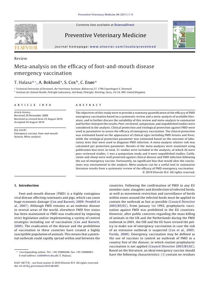 Preventive Veterinary Medicine 98 (2011) 1–9                                                         Contents lists availa...