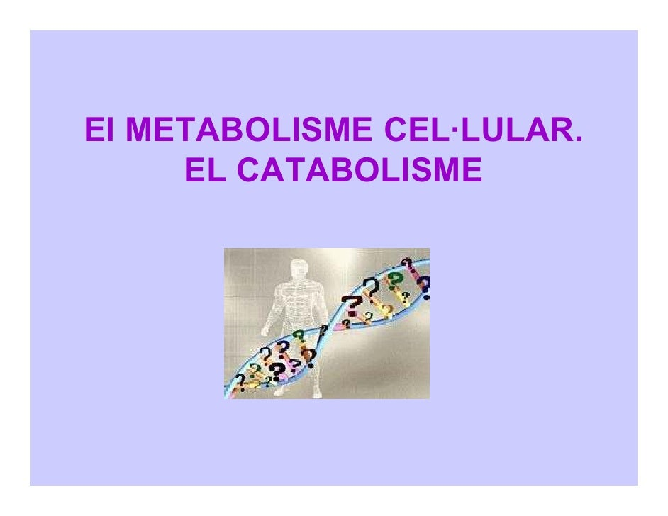 El METABOLISME CEL·LULAR.      EL CATABOLISME