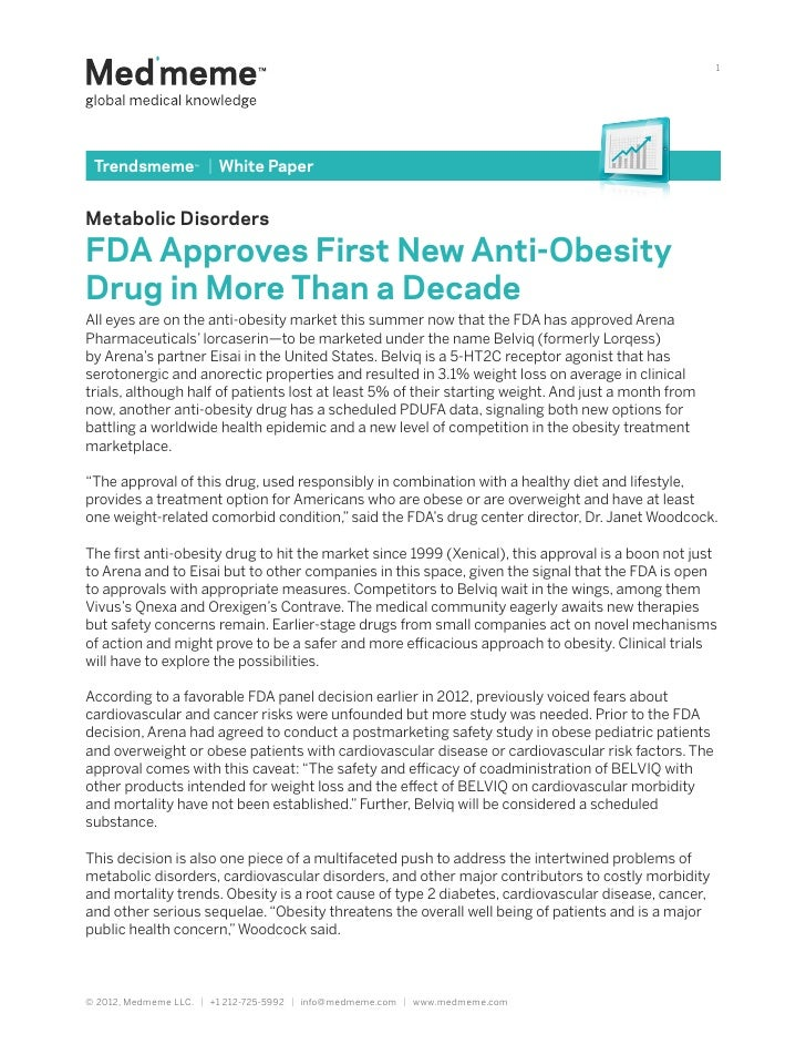 1 Trendsmeme™   White PaperMetabolic DisordersFDA Approves First New Anti-ObesityDrug in More Than a DecadeAll eyes are on...