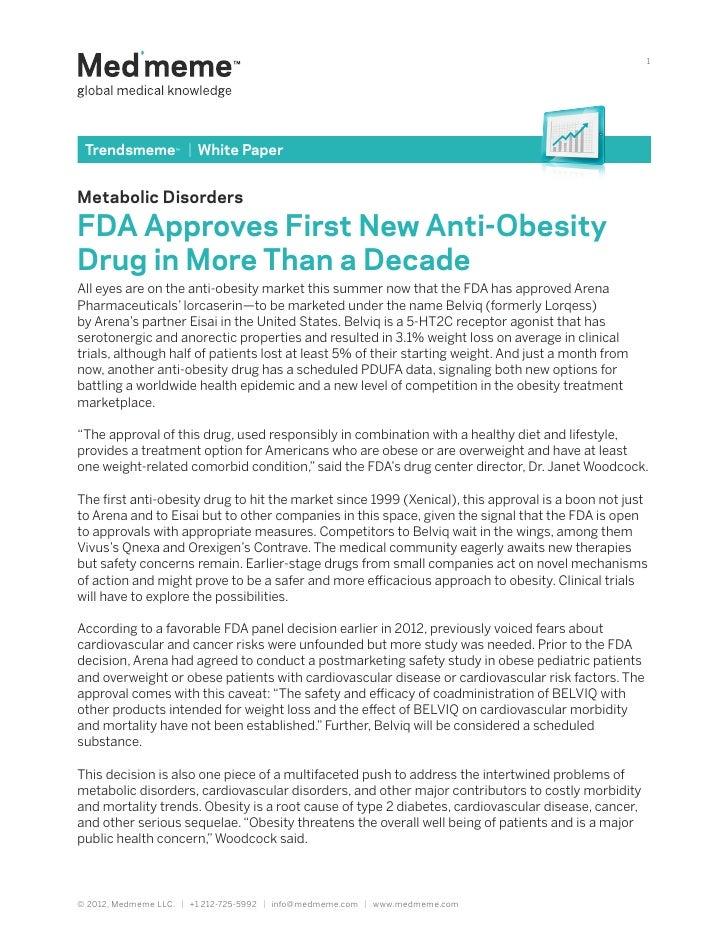 Metabolic   Disorders White Paper