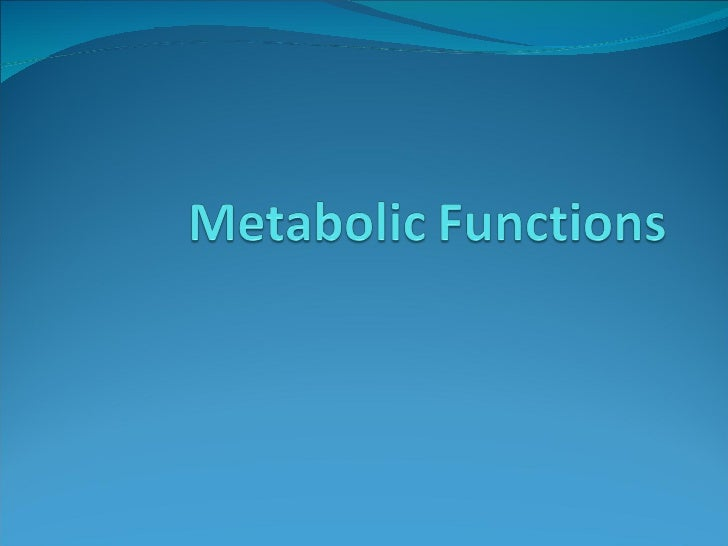 Metabolic Functions Period1