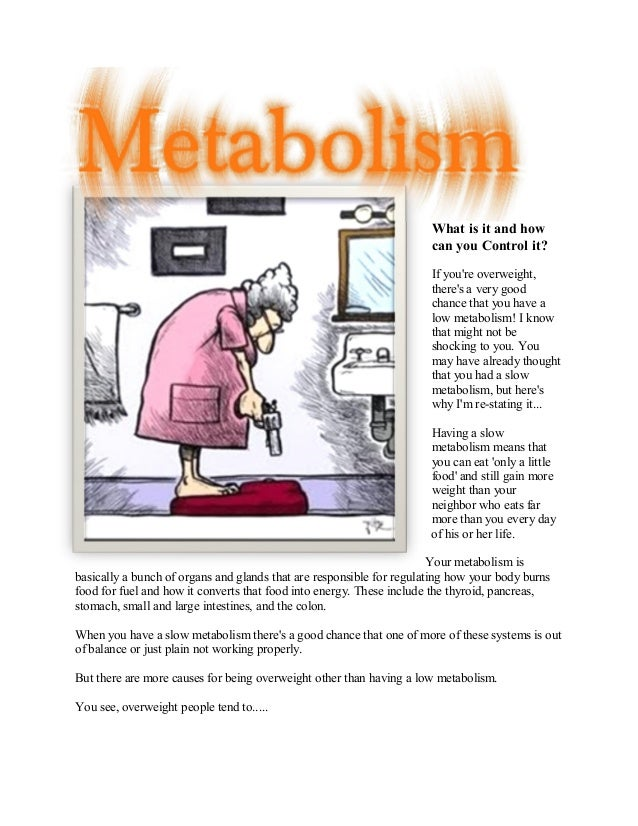 Metabolism - what is it and how can you control it