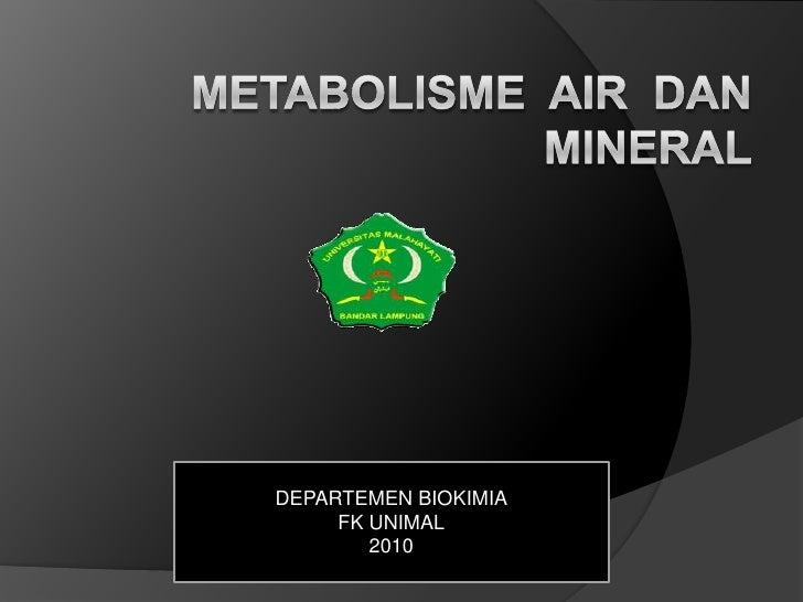 DEPARTEMEN BIOKIMIA     FK UNIMAL        2010