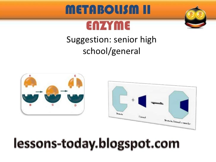 METABOLISM IIENZYME<br />Suggestion: senior high school/general<br />lessons-today.blogspot.com<br />