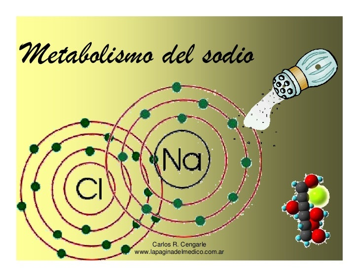 Metabolismo del sodio                    Carlos R. Cengarle           www.lapaginadelmedico.com.ar