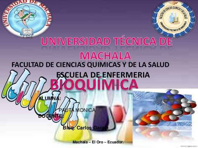 FACULTAD DE CIENCIAS QUIMICAS Y DE LA SALUD  ESCUELA DE ENFERMERIA ALUMNA:  PAUTA MONICA DOCENTE: Bioq. Carlos García Mach...