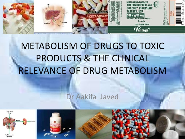 METABOLISM OF DRUGS TO TOXIC PRODUCTS & THE CLINICAL RELEVANCE OF DRUG METABOLISM<br />Dr Aakifa  Javed<br />