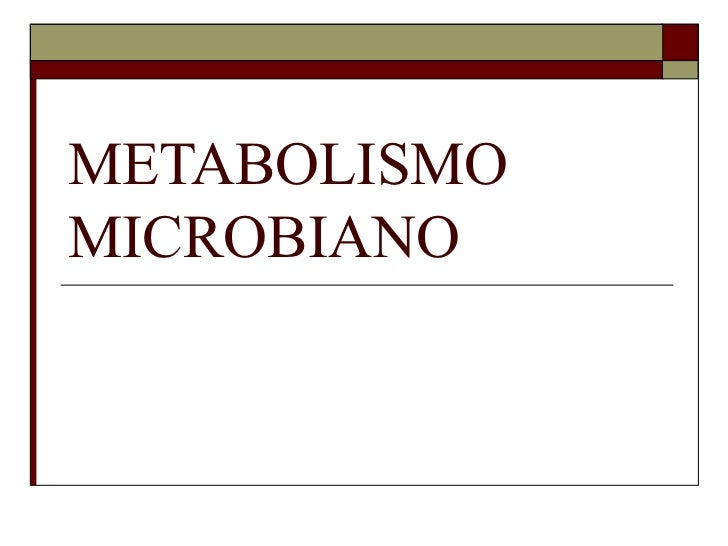 METABOLISMOMICROBIANO
