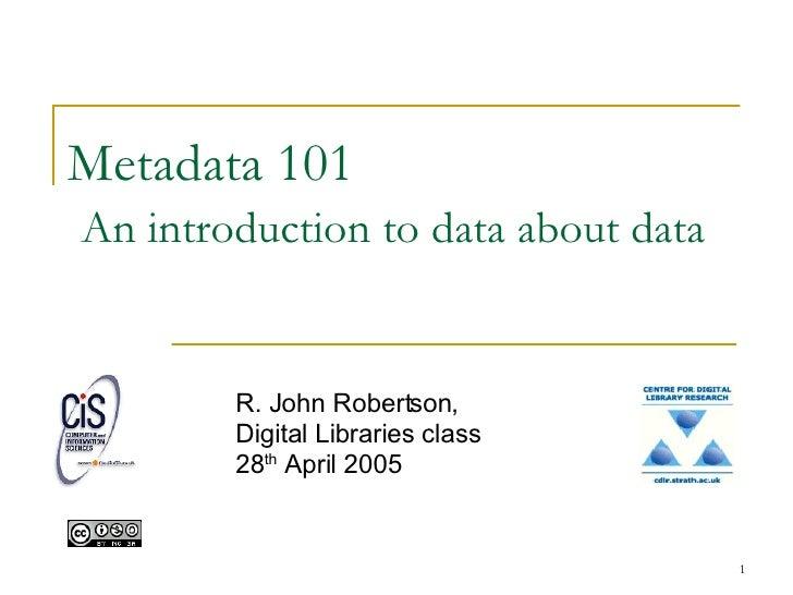Metadata 101public