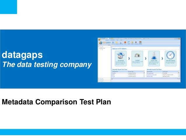 <Insert Picture Here>  datagaps The data testing company  Metadata Comparison Test Plan