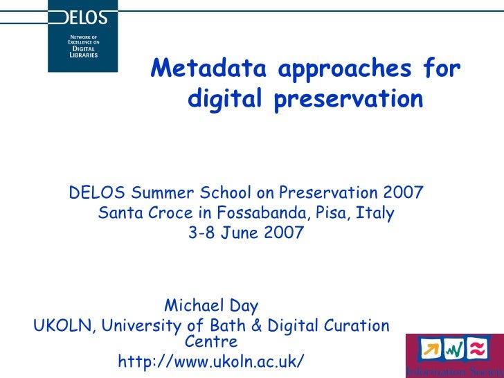 Metadata approaches for digital presentation