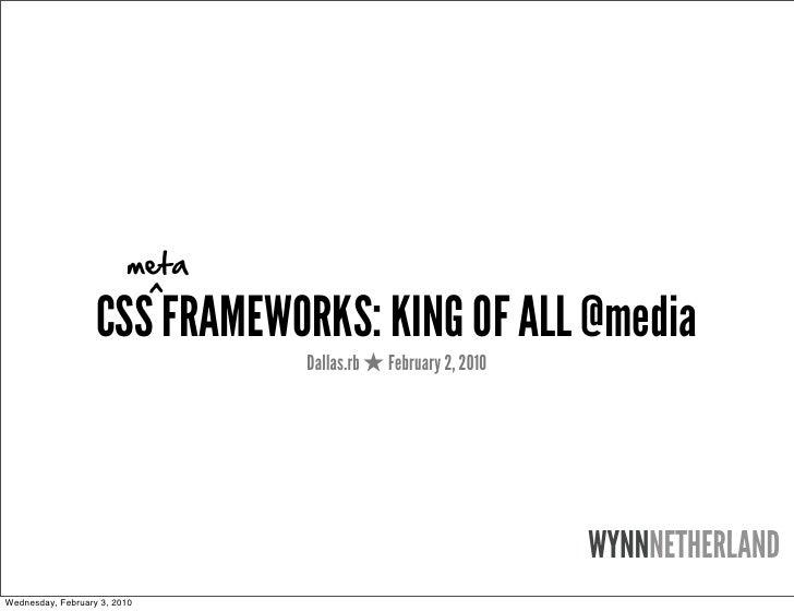 meta                               ^                    CSS FRAMEWORKS: KING OF ALL @media                                ...