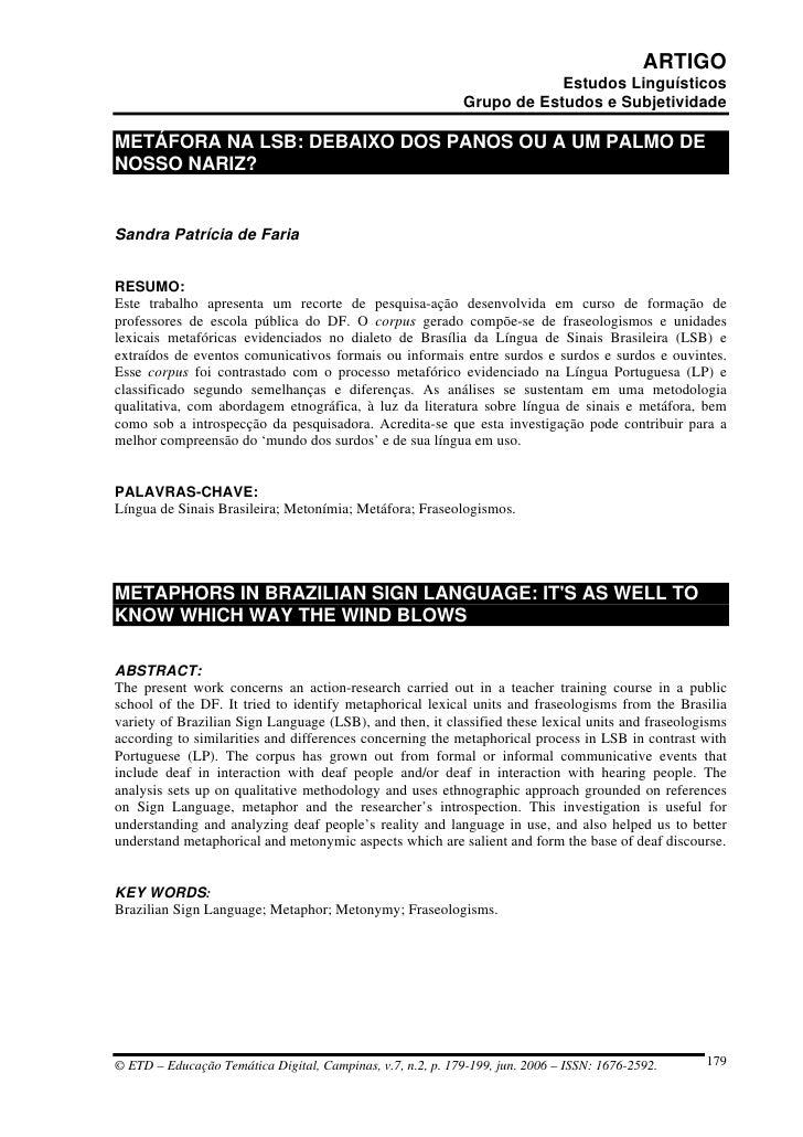 ARTIGO                                                                         Estudos Linguísticos                       ...
