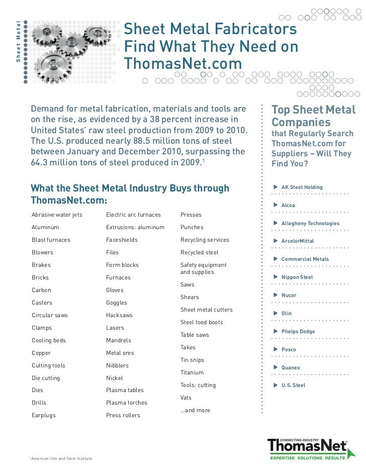 Sheet Metal FabricatorsSheet Metal                                                               Find What They Need on   ...