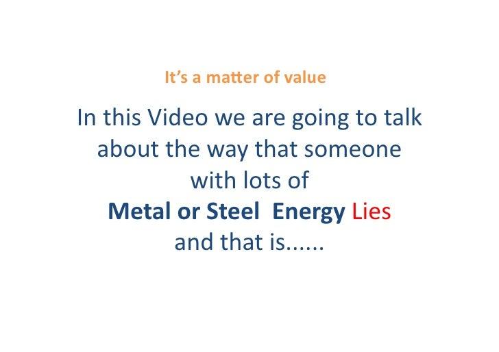 Conscious Wealth - Metal Lies