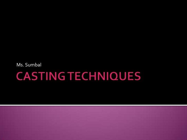 Metallurgy  Casting