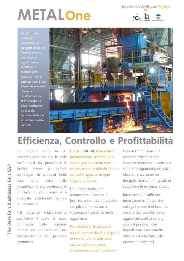 METAL One brochure 2013
