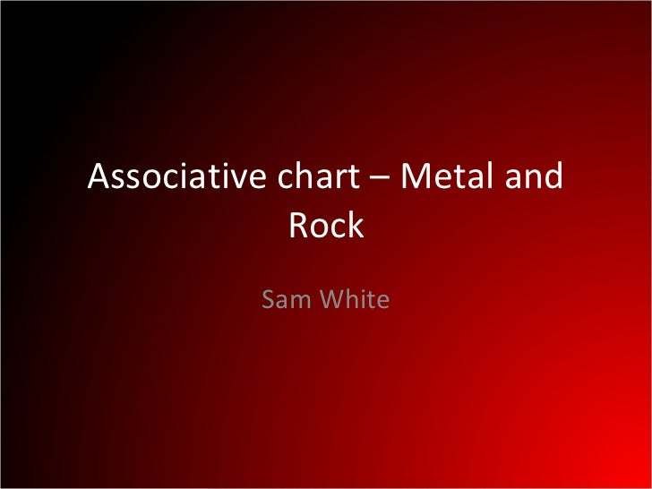 Associative chart – Metal and Rock Sam White